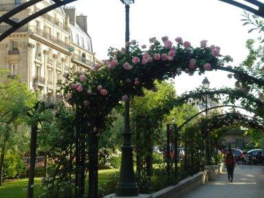 Boulevard Pereire公園バラのアーチdownsize