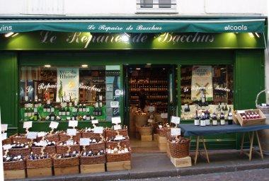 rue Mouffetard(ムフェタール)通のワイン屋downsize