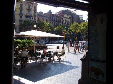 バルセロナ昼下がりのカフェテラスdownsize