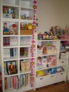 娘の部屋 本棚&オモチャ棚