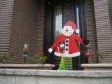 クリスマス飾り 玄関ポーチ