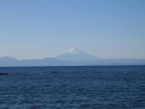 長井漁港からの富士山