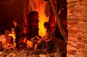 被爆直後の様子を再現した模型