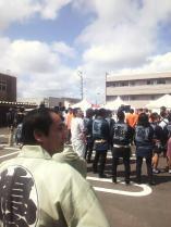 開会式典の様子。復興祭本部にて県議、鉾田市長、復興祭実行委員長の挨拶がありました。