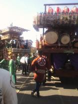 復興祭が終わり山車は各町内へ。