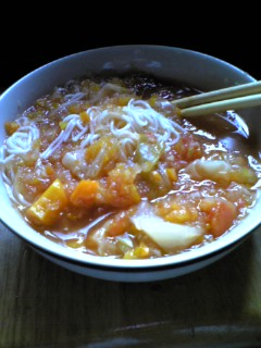 野菜スープそうめんin