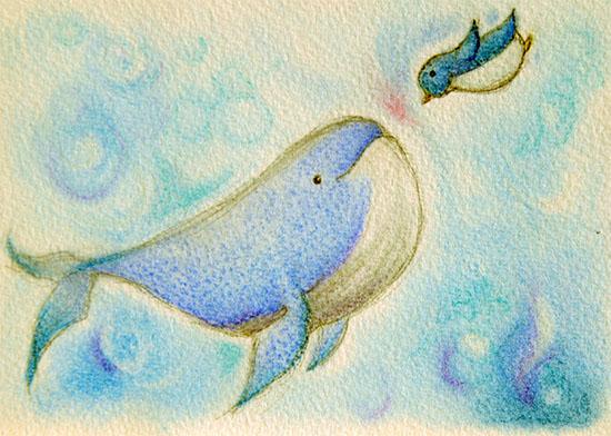 クジラとペンギン