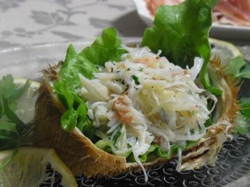 ヴェネチア風毛蟹のサラダ
