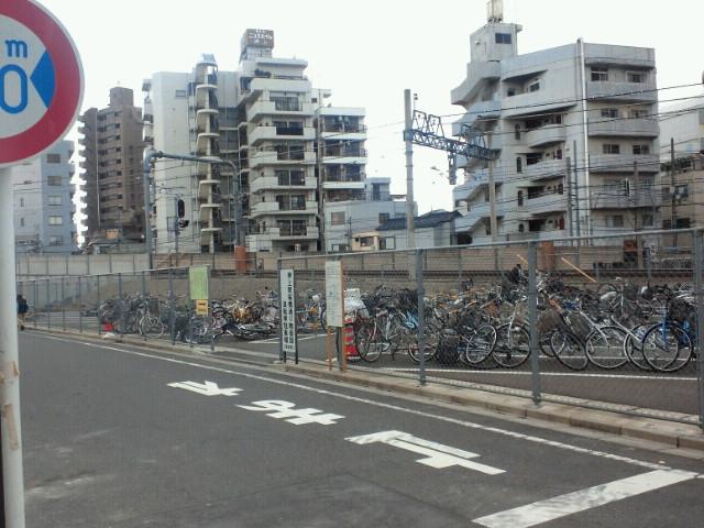 桜橋通り側仮設駐輪場
