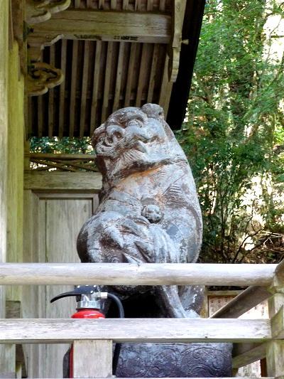 由岐神社‐阿‐狛犬