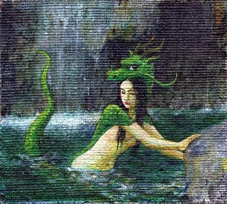 アクリル画「龍神」