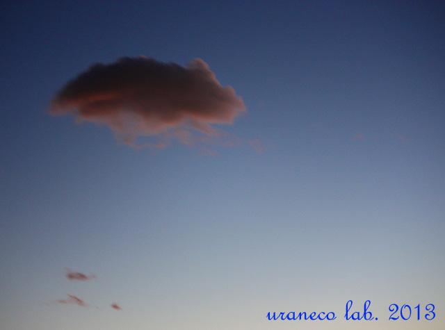7月17日黄昏の空