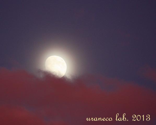 9月16日雲間の月2