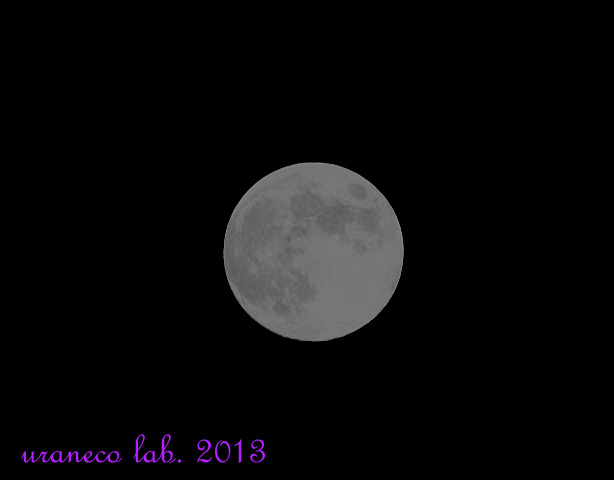 9月19日満月モノクロバージョン