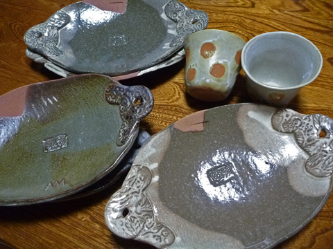 陶板焼きができる皿