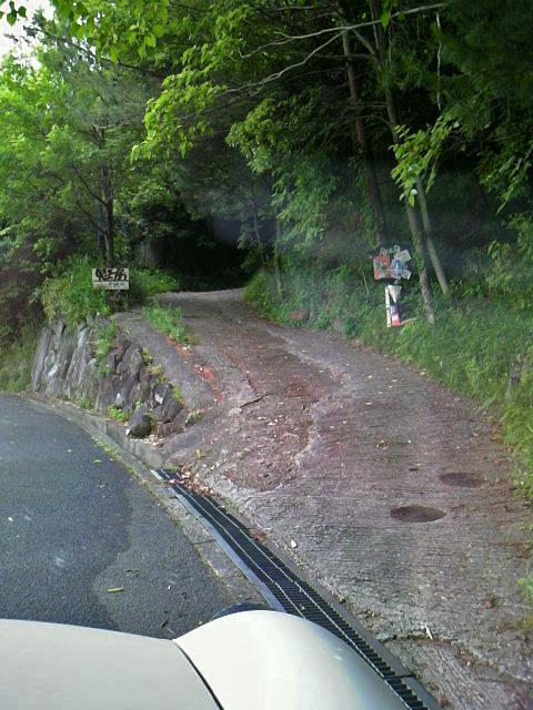 車道から急な坂をさらに奥へ