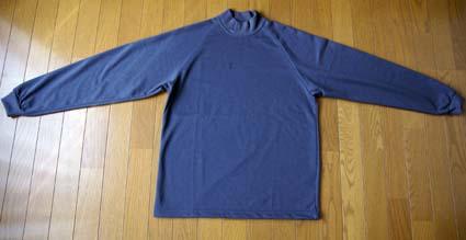 (株)マスダ長袖ハイネックTシャツ「AIR-040」全体