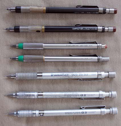 日本製の製図用シャープペンシル01