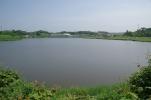 湖を見下ろす
