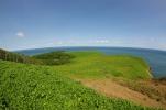緑の丘の岬