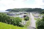 藻散布の町