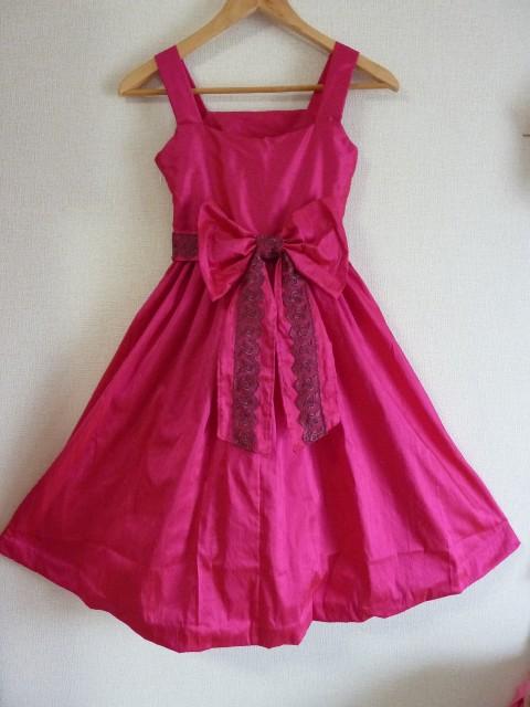 ピンクドレス後ろ