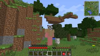 木の生えた浮遊島