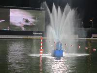 レース終了後の噴水、静けさの中ひときわ目立ってきれかったです!