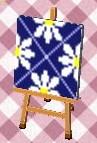 レトロフラワー(紺)