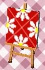 レトロフラワー(赤)