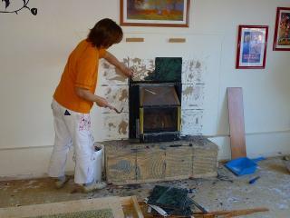 暖炉解体4