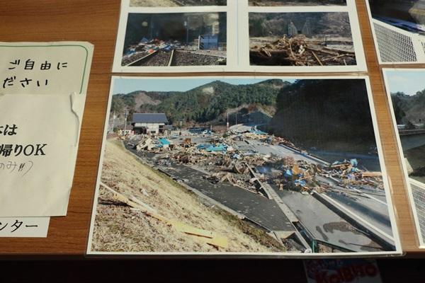 田野畑駅の被災写真