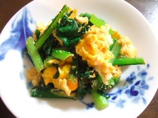 小松菜の卵炒め0517