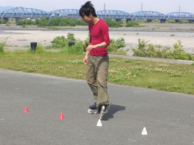 インラインスケーターに遭遇4