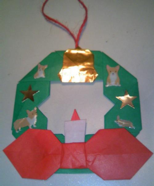 コギクリスマスリース