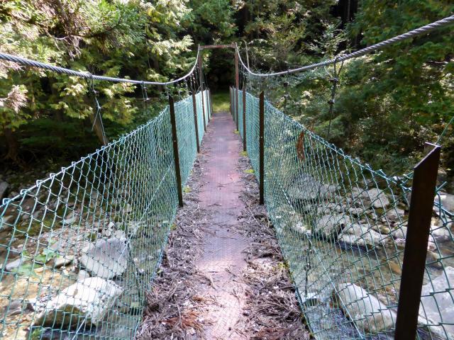 笹島キャンプ場の吊橋2