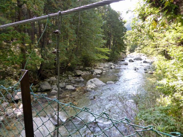 笹島キャンプ場の吊橋3