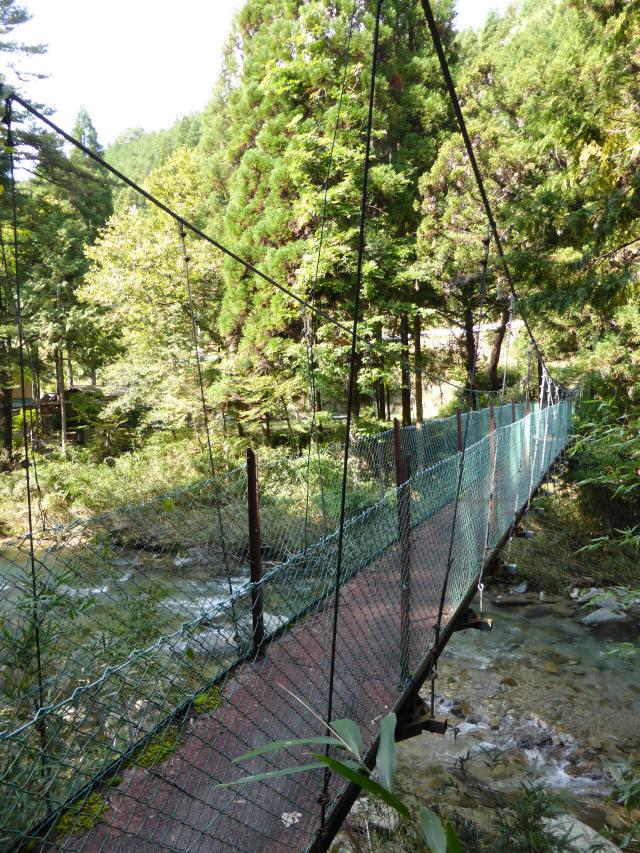 笹島キャンプ場の吊橋4