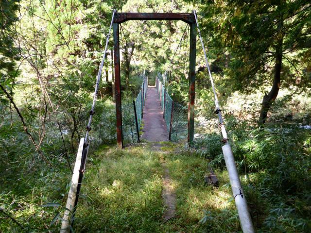笹島キャンプ場の吊橋5