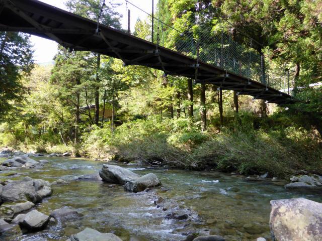 笹島キャンプ場の吊橋7