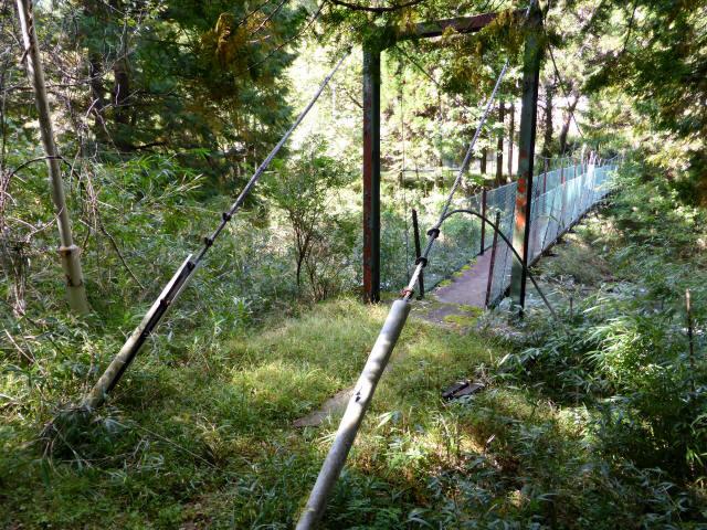 笹島キャンプ場の吊橋9