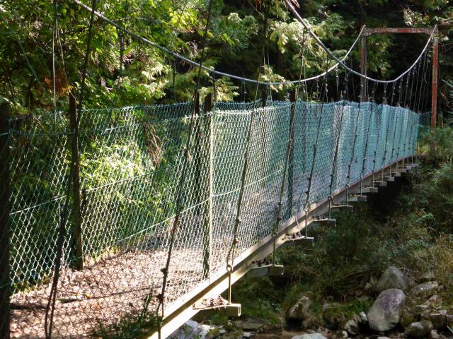 笹島キャンプ場の吊橋0