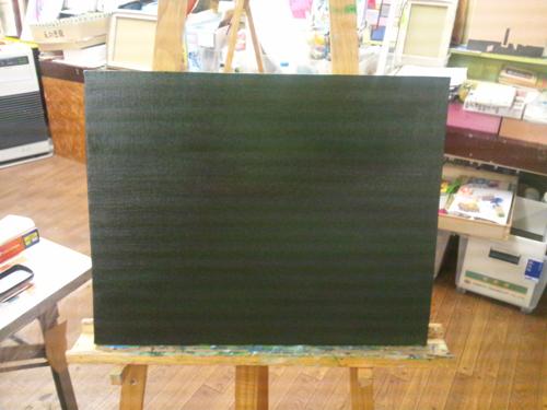 ユベール・ロベール模写下塗り