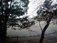 つつじヶ丘公園 富士塚からの野球場