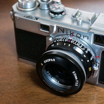 Nikon S2 + S SKOPAR 50mmF2.5 フード付き