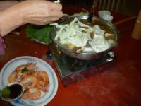 新竹甲山土鶏城で羊肉爐の夕食0123