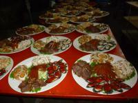 2012年度高雄顧客尾牙(忘年会)出張料理準備中
