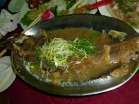 2012年度高雄顧客尾牙(忘年会)料理の蒸し魚