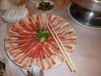 東北酸菜白肉鍋のシャブシャブ用バラ肉130203
