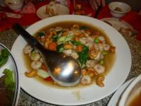 台南阿美飯店のエビとカシューナッツ炒め130205